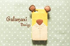 Handmade iPhone 6S Bear Case Fabric Bear Case for by Galamaxi