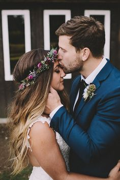 I want a flower crown at my wedding so bad! Wedding Bells, Fall Wedding, Dream Wedding, Rustic Wedding, Wedding Poses, Wedding Couples, Flower Crown Wedding, Flower Crowns, Crown Flower