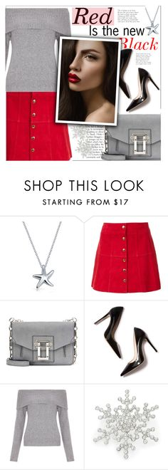 """""""Red"""" by beautifulsunshine1 ❤ liked on Polyvore featuring Bling Jewelry, Ines de la Fressange, Proenza Schouler, M. Gemi, New Look and Design Lab"""
