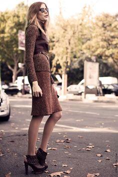 sweater dress & harness vest