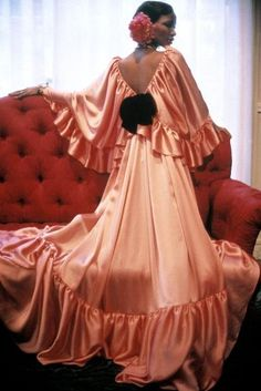 Evening gown by Grès through the lenses of Eve Arnold, Paris, 1977.