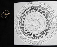 wedding card with Tonic Studios dies