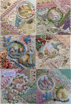 """I ❤ crazy quilting, beading & ribbon embroidery . . . """"Stunning work"""" I admire her talent! CQJP finished ~By Gerry Krueger, olderrose"""