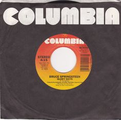 """Bruce Springsteen / Glory Days / Stand On It  / 7"""" Vinyl 45 RPM Jukebox Record #BruceSpringsteen #Rock #Music"""