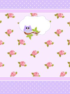 Montando minha festa: Kit digital gratuito para imprimir Corujinha floral!