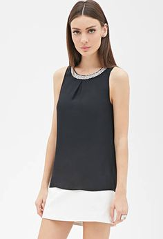 Faux Pearl Chiffon Top from Forever 21 $10,90