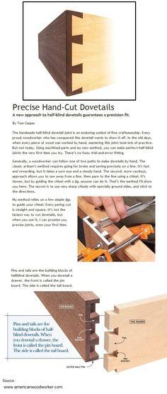 Precise Hand-Cut Dovetails