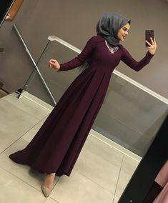 Dress Casual Outfits For Party - Dress Hijab Evening Dress, Hijab Dress Party, Hijab Outfit, Abaya Fashion, Muslim Fashion, Dress Fashion, Casual Dress Outfits, Fashion Outfits, Hijab Look