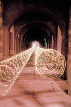 Light art created by Eric Staller in the 70s and 80s in New York City