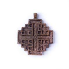Cross Jerusalem crusader's cross wood pendant necklace by 81stgeneration 81stgeneration. $15.98. .