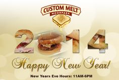We are open today until 6PM. What better way to start off your New Year's Celebration than with a warm, delicious sandwich and an ice cold beer? Happy New Year! Have fun and be safe!