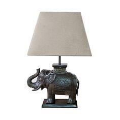 Elephant Desk Lamp, Bronze
