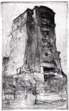 Apartment, Bethesda drypoint x Lee Newman Charcoal Art, Charcoal Drawings, Shetland, Art Cart, Collagraph, Artist Sketchbook, Sense Of Place, Urban Landscape, Painting & Drawing