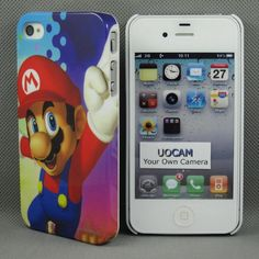 Brand New Apple iPhone 4S 4 Slim Hard Snap Case Nintendo Super Mario Bros Luigi Wii U NDSL 3DS