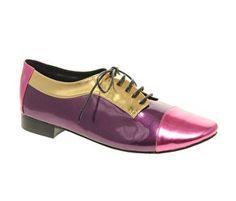 ASOS Meteor Metallic Colour Blocked Lace Up Shoes