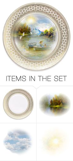 """""""Boating at the lake"""" by riagr ❤ liked on Polyvore featuring art and vintage"""
