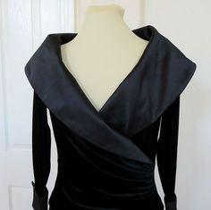 Vintage Tadashi Black Sateen and Velvet Swag by MyVintageJewels