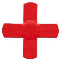 red bandaid cross