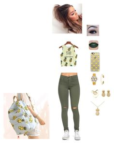 """""""pineapple green"""" by itsalyssianicole ❤ liked on Polyvore featuring WithChic, Casetify, Canvas Love, Rachel Jackson, Latelita and Sydney Evan"""