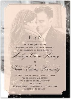 A personal photo invitation! We can create this for you