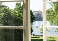 {Hotel Skeppsholmen} in Stockholm is located in a building 300 years old