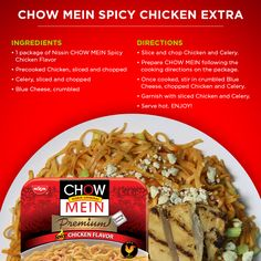 Spice up dinner with Spicy Chicken Chow Mein and a few extra ingredients.