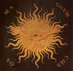 Giovan Francesco Capoferri, intarsia panel in Sta. Maria Maggiore, Bergamo, depicting the universe emerging from primordial darkness - design by Lorenzo Lotto, 1524 / Sacred Geometry Art Prints, Creation Myth, Sacred Geometry, Stars And Moon, Chaos, Occult, Greek Mythology, Art, Mythology