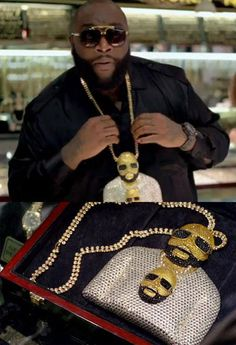 Rick ross wearing a chain of rick ross wearing a chain of rick ross. 90s Hip Hop, Hip Hop Rap, Big Gold Chains, Trick Daddy, Rapper Jewelry, Trill Art, Hip Hop Lyrics, Hip Hop Classics, Rick Ross