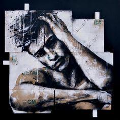 Street Art Banksy, Murals Street Art, Inspirational Artwork, Images D'art, Tableau Pop Art, L'art Du Portrait, Graffiti Artwork, Art Of Man, Art Et Illustration
