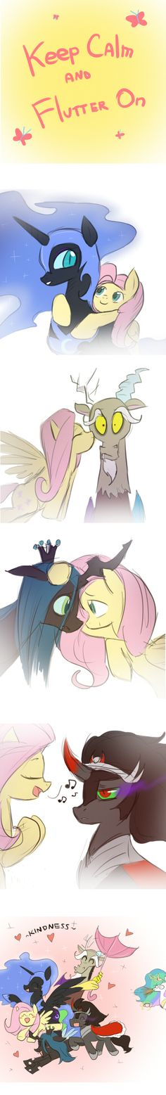 MLP: Keep Calm and Flutter On by keterok.deviantart.com on @deviantART  Celestia's reaction! Priceless!