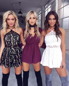 Black and nude lace, burgundy, white lace dresses