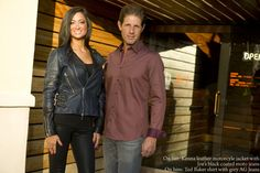 New fall & winter fashion arriving every day at Scottsdale Jean Company.  On her: Kenna leather motorcycle jacket and Joe's Jeans black coated moto jeans.  Oh him: Ted Baker shirt with grey AG Jeans.  www.scottsdalejc.com