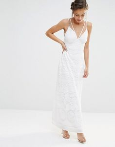 Boohoo Burn Out Strappy Maxi Dress