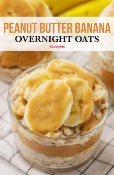 These peanut butter banana overnight oats are the perfect healthy, on-the-go breakfast for fans of the classic sweet and hearty flavor combo. Peanut Butter Banana Overnight Oats - Yield: about 2 cups Peanut Butter Overnight Oats, Banana Overnight Oats, Peanut Butter Banana, Overnight Breakfast, Banana Oats, Healthy Overnight Oats, Peanut Butter Breakfast, Good Healthy Recipes, Healthy Breakfast Recipes