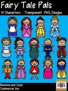 Fairy Tale Pals Clipart Collection-Princesses,Princes, and More!