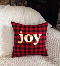 Holiday Pillow Christmas Decorations Gifts Under 30 by JadieCakes