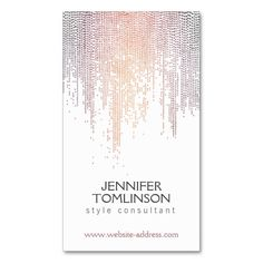 Elegant Colorful Dot Pattern on White Business Card