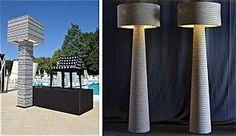 Resultado de imagen para lamparas de carton reciclado