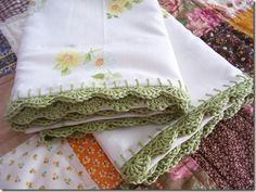 green crochet edge
