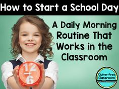 Classroom Morning Routines: Start the School Day in an Organized Way