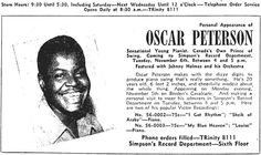Ad for Oscar Peterson show - 1945