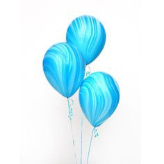"Blue & aqua tie dye marble balloons Details: Size: 11"" balloon Qty: 3"