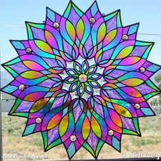 Stained Glass Mandala, Shelly Lewis