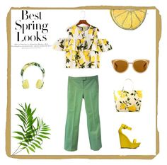 """""""#tropical Must have spring look"""" by pshoney ❤ liked on Polyvore featuring Silken Favours, Kate Spade, Draper James, Dolce&Gabbana, Joop!, H&M and Breckelle's"""