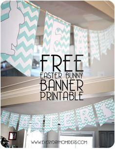 Everyday Mom Ideas: FREE Chevron Easter Bunny Banner (printable PDF)