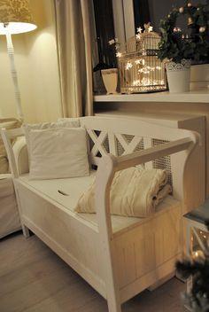 Wnętrza, Grudniowy salon - Dzieciaczki uwielbiają tę ławeczkę:-)) Bunk Beds, Teak, Sweet Home, House, Furniture, Home Decor, Lounges, Decoration Home, Loft Beds