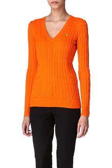 RALPH LAUREN Cable-knitted jumper