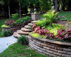 Backyard Designs With Retaining Walls Backyard Landscape Design