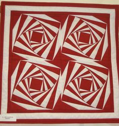 Red and white challenge quilt, Bayberry Quilters Guild 2012, photo by Mary Carlson. I LOVE THIS.