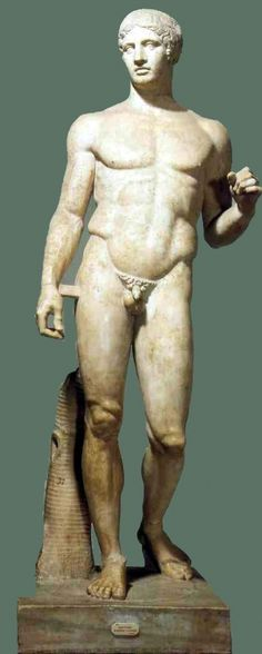 The sculpture of Doryphoros